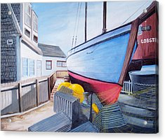 Maine Boatyard Acrylic Print