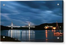 Maine Bridge And Fort Knox  Acrylic Print