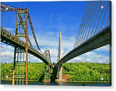 Maine Bridges Acrylic Print