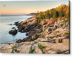 Maine Coastal Photograph - Acadia National Park Acrylic Print by Bill Swindaman