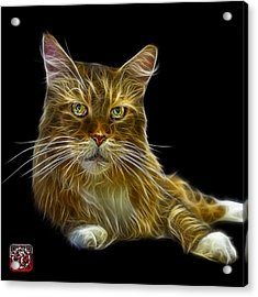 Acrylic Print featuring the painting Maine Coon Cat - 3926 - Bb by James Ahn