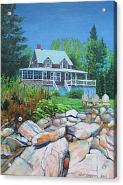 Maine Cottage Acrylic Print