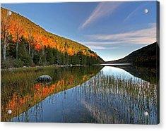 Maine Fall Foliage Glory At Bubble Pond  Acrylic Print