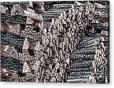 Maine Firewood Acrylic Print