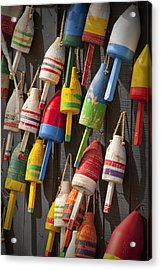 Maine Fishing Buoys Acrylic Print