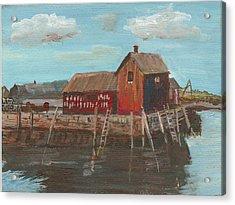 Maine Fishing Shack Acrylic Print