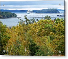Acrylic Print featuring the photograph Maine Harbor by Gene Cyr