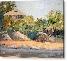 Maine Harbor House Acrylic Print by Tommy Thompson
