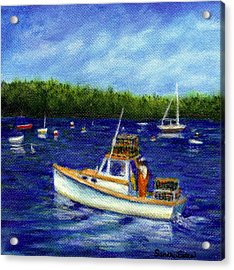 Maine Lobster Boat Acrylic Print by Sandra Estes