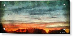 Maine Sunset Acrylic Print by RC deWinter