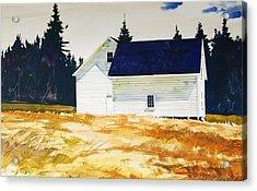 Maine White Acrylic Print