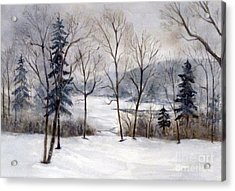 Maine Winter Acrylic Print