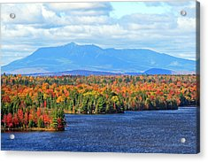 Maine's Mt. Katahdin In Autumn Acrylic Print