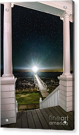 Maines Premier Porch Light Acrylic Print by Scott Thorp