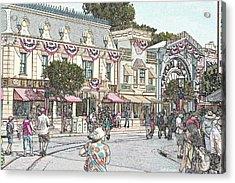 Mainstreet Anytown Usa Acrylic Print by Jeff Kemper