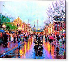 Acrylic Print featuring the photograph Mainstreet Disneyland by David Lawson