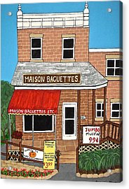 Maison Baguettes Acrylic Print by Stephanie Moore