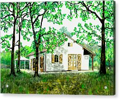 Acrylic Print featuring the painting Maison En Medoc by Marc Philippe Joly