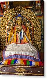 Maitreya Buddha Erdene Zuu Monastery Acrylic Print by Colin Monteath
