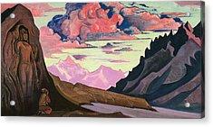Maitreya The Conqueror Acrylic Print by Nicholas Roerich