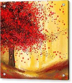 Majestic Autumn - Impressionist Painting Acrylic Print by Lourry Legarde