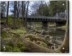 Majestic Bridge In The Woods Acrylic Print
