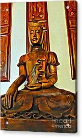 Majestic Buddha Acrylic Print
