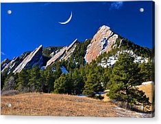 Majestic Flatirons Of Boulder Colorado Acrylic Print by John Hoffman