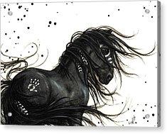 Majestic Friesian Horse Acrylic Print