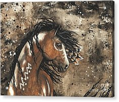 Majestic Mustang Series 61 Acrylic Print by AmyLyn Bihrle