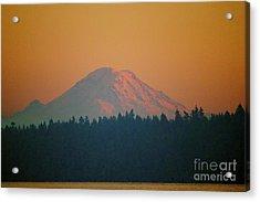 Majestic Rainier Acrylic Print by Terri Thompson