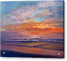 Acrylic Print featuring the painting Majestic Sunrise by Lori Ippolito