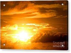 Majestic Sunset Acrylic Print by Kristine Merc