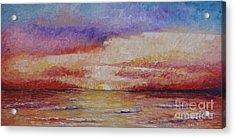 Majestic Sunset  Acrylic Print by Tatjana Popovska