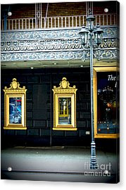 Majestic Theatre Lightpost Acrylic Print