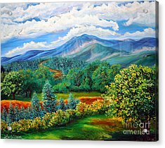 Acrylic Print featuring the painting Majestic View Of The Blue Ridge by Lee Nixon