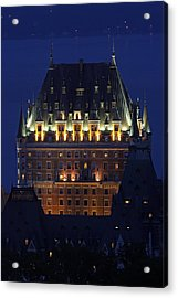 Majesty Of Chateau Frontenac In Quebec City Acrylic Print by Juergen Roth