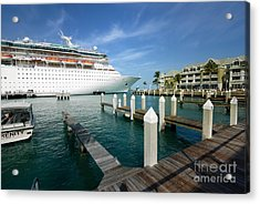 Majesty Of The Seas Docked At Key West Florida Acrylic Print by Amy Cicconi