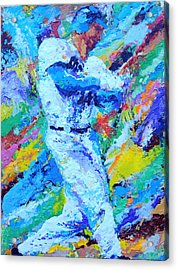 Major League Player Acrylic Print by Charles Ambrosio