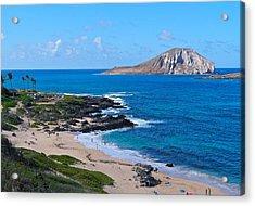 Makapuu Beach With Rabbit Island Acrylic Print