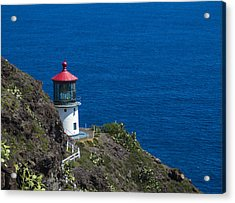 Acrylic Print featuring the photograph Makapuu Lighthouse 1 by Leigh Anne Meeks