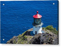 Acrylic Print featuring the photograph Makapuu Lighthouse 3 by Leigh Anne Meeks