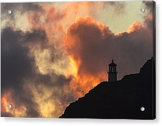 Acrylic Print featuring the photograph Makapuu Lighthouse Sunrise 1 by Leigh Anne Meeks