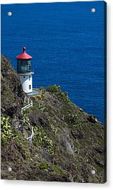 Acrylic Print featuring the photograph Makapuu Lighthouse2 by Leigh Anne Meeks