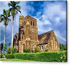 Makawao Union Church 1 Acrylic Print by Dawn Eshelman