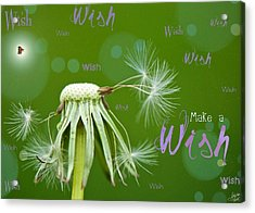 Make A Wish Card Acrylic Print