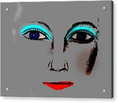 Make Up Digital Painting By Saribelle Rodriguez Acrylic Print by Saribelle Rodriguez