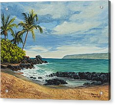 Makena Beach Acrylic Print by Darice Machel McGuire