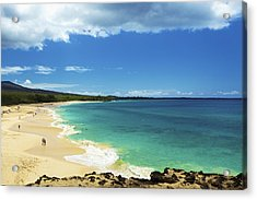 Makena Beach Lookout Acrylic Print by Kicka Witte