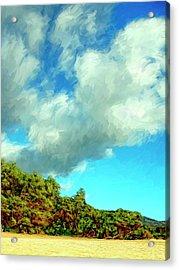 Makena Beach Maui Acrylic Print by Dominic Piperata
